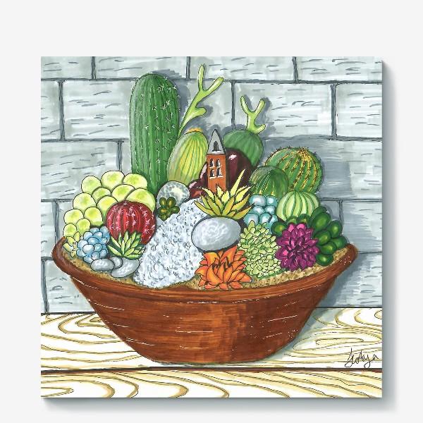 Холст «Композиция кактусов»