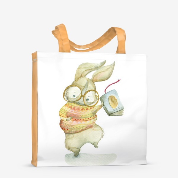 Сумка-шоппер «Зайчик-книги-читайчик»