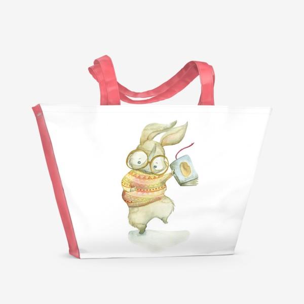 Пляжная сумка «Зайчик-книги-читайчик»