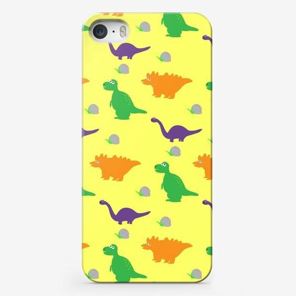 Чехол iPhone «Динозаврики»