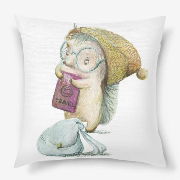 Подушка «Ежик-путешественник»