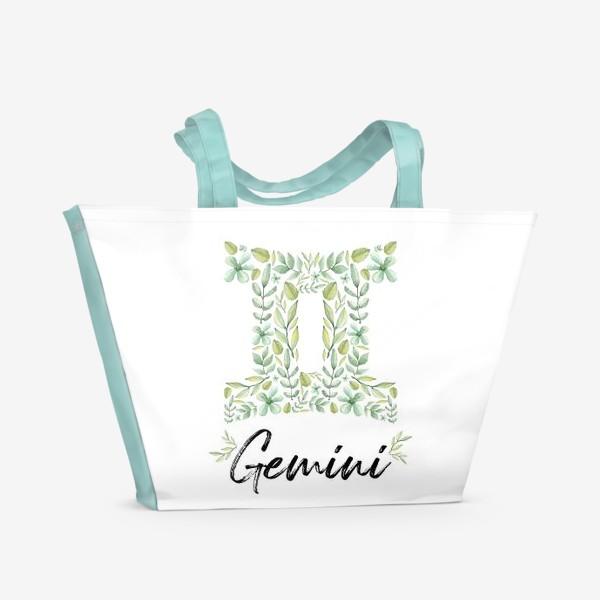 Пляжная сумка «Знак зодиака Близнецы»