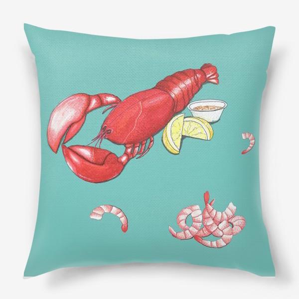 Подушка «Морепродукты»