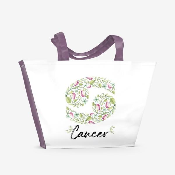 Пляжная сумка «Знак зодиака Рак»