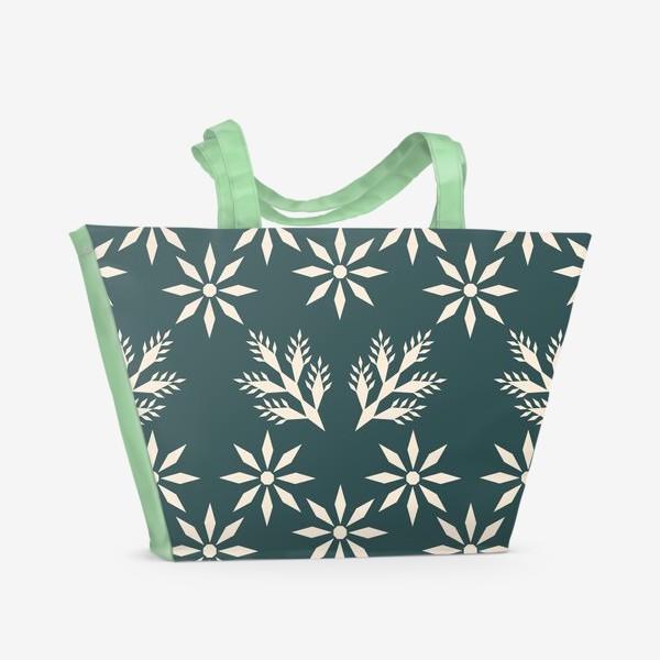 Пляжная сумка «Морозная ночь»