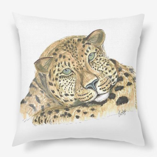 Подушка «Задумчивый ягуар»