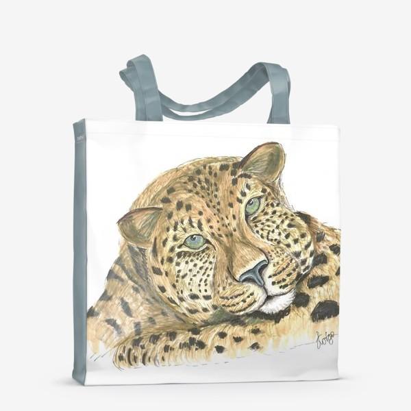 Сумка-шоппер «Задумчивый ягуар»