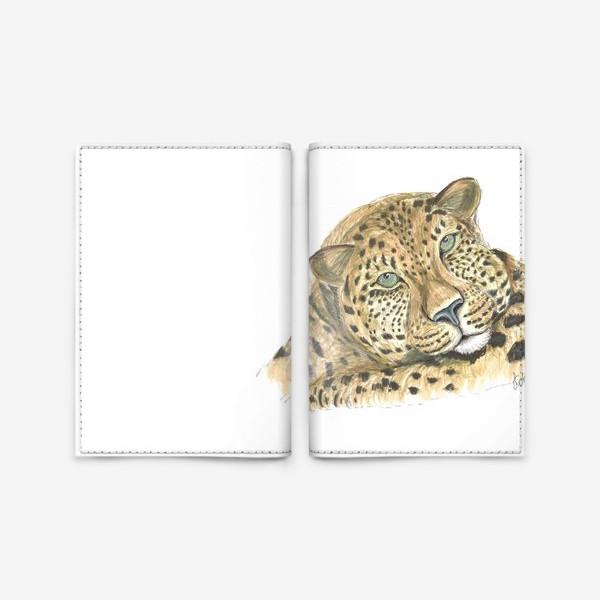 Обложка для паспорта «Задумчивый ягуар»