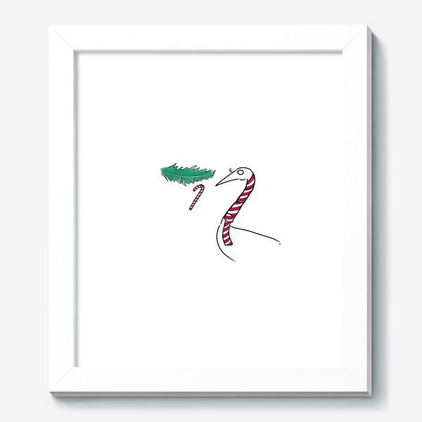 Картина «Птица и новогодняя карамелька. Новый год. Рождество »
