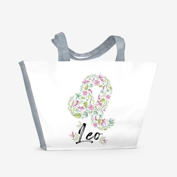 Пляжная сумка «Знак Зодиака Лев»