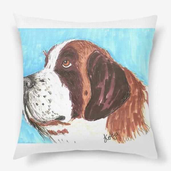 Подушка «Грустный пес»