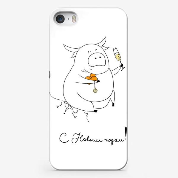 Чехол iPhone «С новым годом! Год быка 2021!»