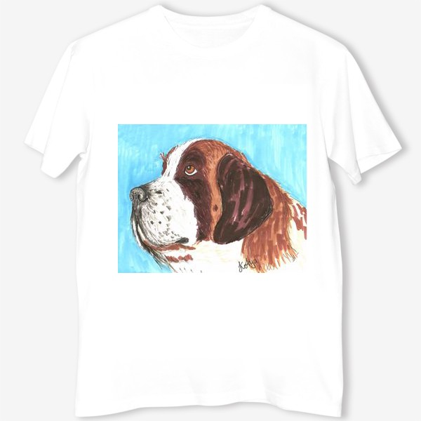 Футболка «Грустный пес»