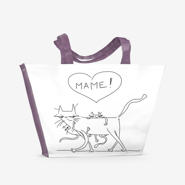 Пляжная сумка «Любимой маме. День матери »