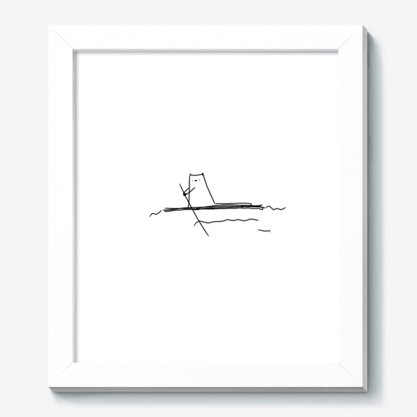 Картина «Кот на маленьком плоту »