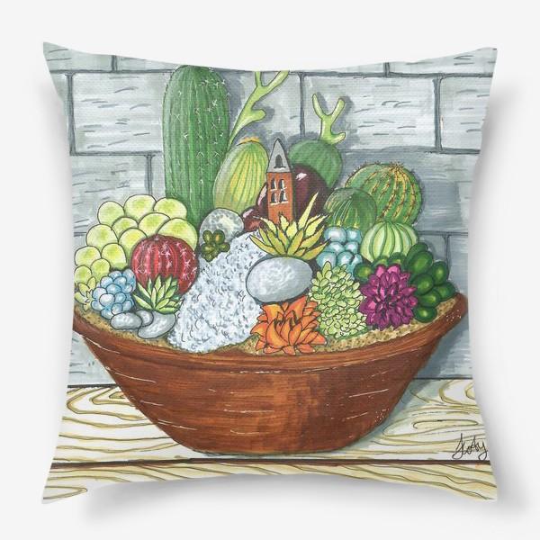 Подушка «Композиция кактусов»