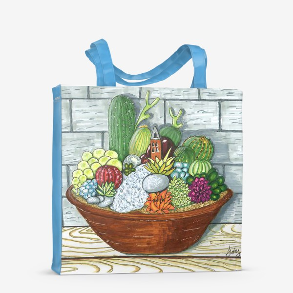 Сумка-шоппер «Композиция кактусов»