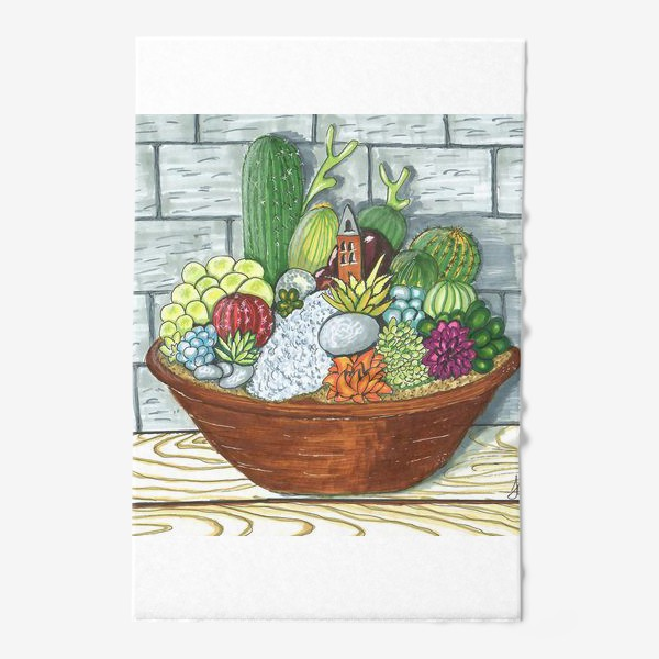 Полотенце «Композиция кактусов»