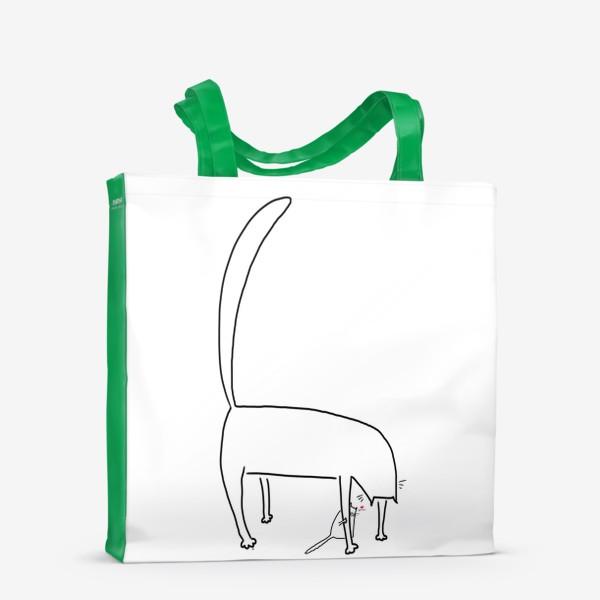 Сумка-шоппер «Кошка и котенок за ее лапкой »