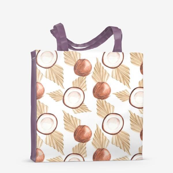 Сумка-шоппер «Коккос и пальма. Тропический паттерн»