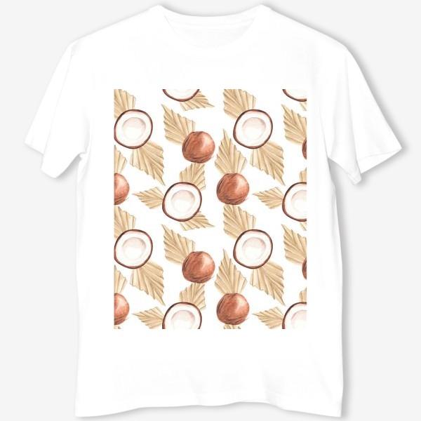 Футболка «Коккос и пальма. Тропический паттерн»