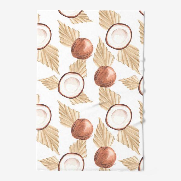Полотенце «Коккос и пальма. Тропический паттерн»
