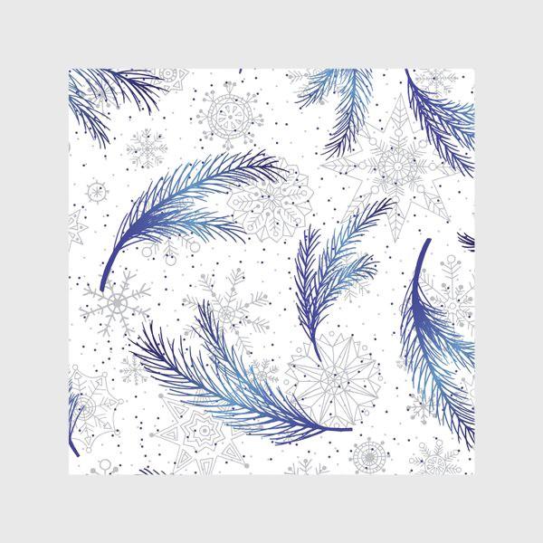 Скатерть «Елочные ветки и снежинки»