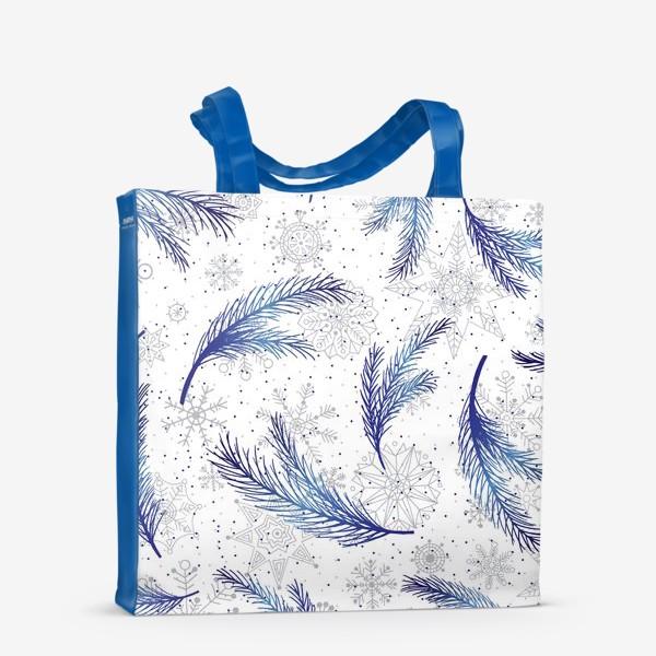 Сумка-шоппер «Елочные ветки и снежинки»