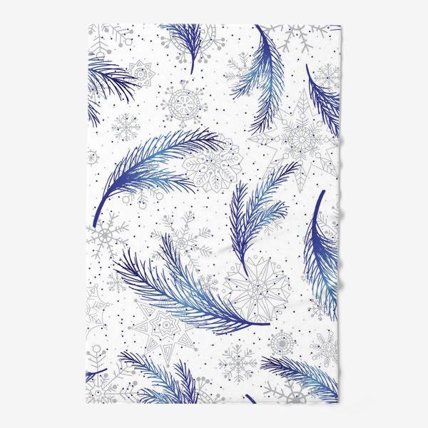 Полотенце «Елочные ветки и снежинки»