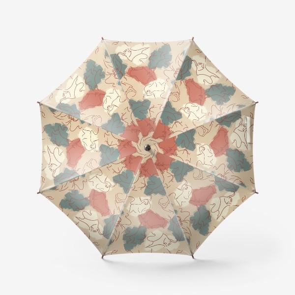 Зонт «Паттерн быки на пастельном фоне»