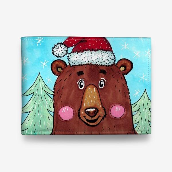 Кошелек «Милый новогодний мишка с подарком»