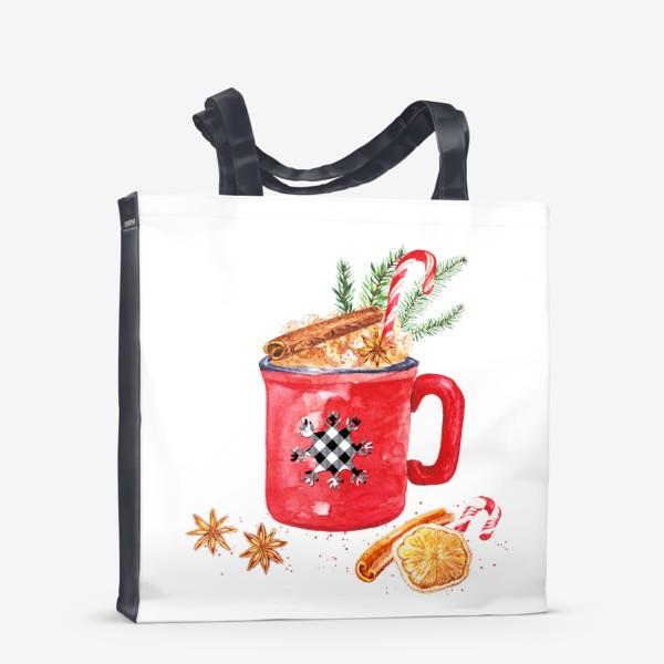 Сумка-шоппер «Рождественская кружка горячего шоколада»