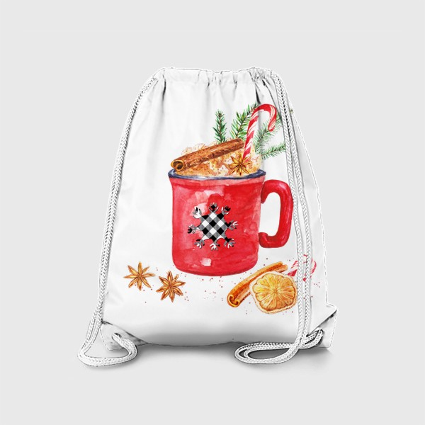 Рюкзак «Рождественская кружка горячего шоколада»