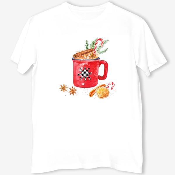 Футболка «Рождественская кружка горячего шоколада»