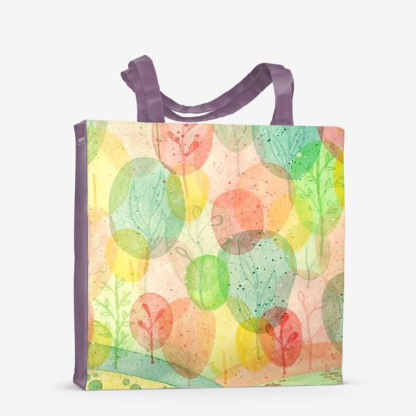Сумка-шоппер «Осенний лес. Акварель.»