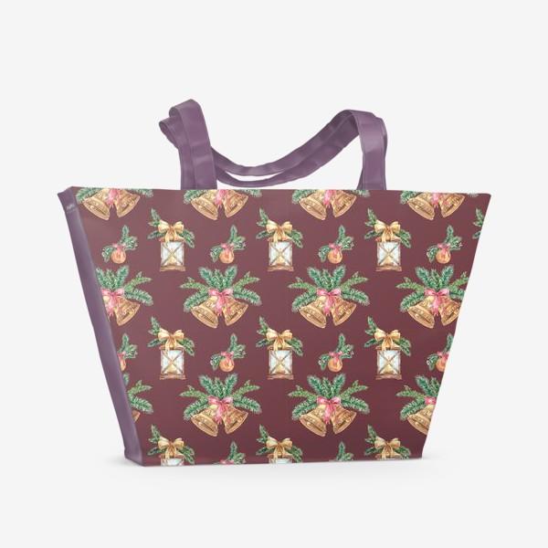Пляжная сумка «Новый год в бордо»