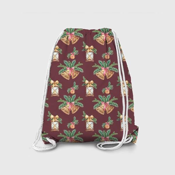 Рюкзак «Новый год в бордо»