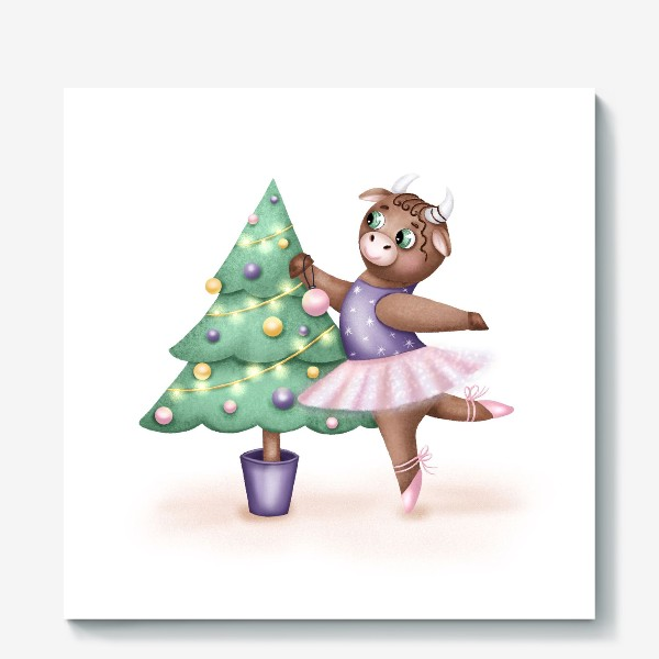 Холст «Корова-балерина»