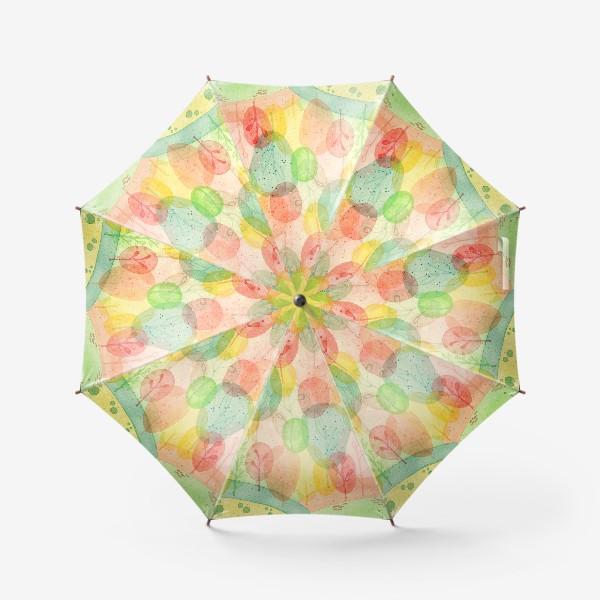 Зонт «Осенний лес. Акварель.»