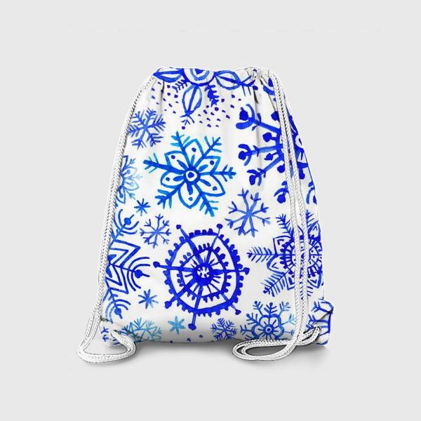 Рюкзак «Снежинки гжель»