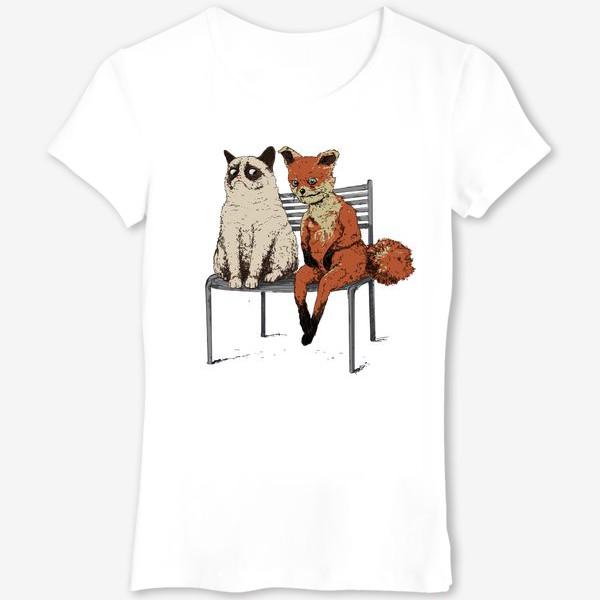 Футболка «Угрюмый кот и упоротый лис»
