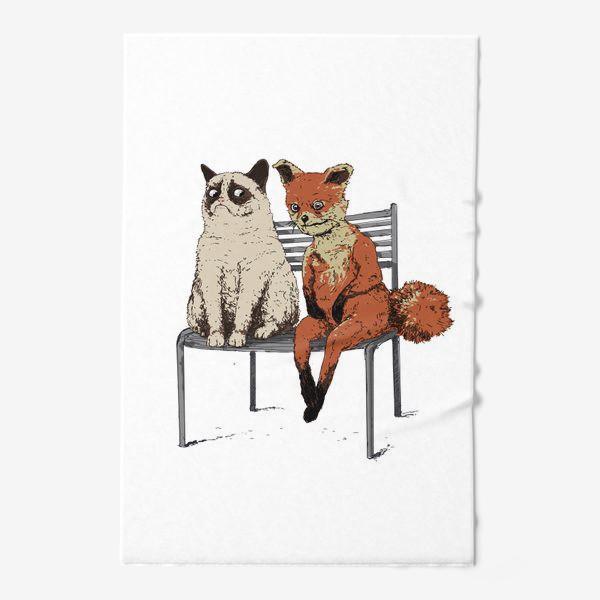 Полотенце «Угрюмый кот и упоротый лис»