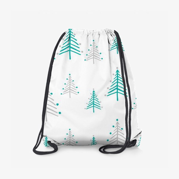 Рюкзак «Новогодний паттерн, минималистичные ёлочки»