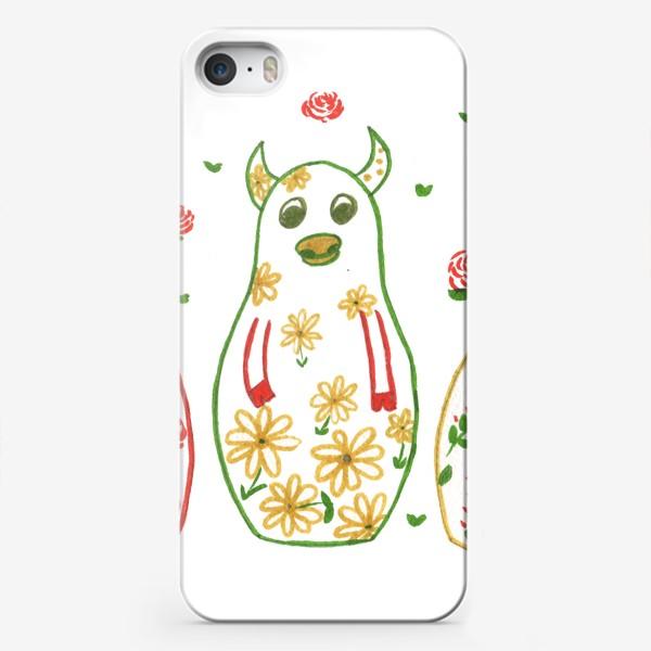 Чехол iPhone «Быки - матрёшки. Лето»