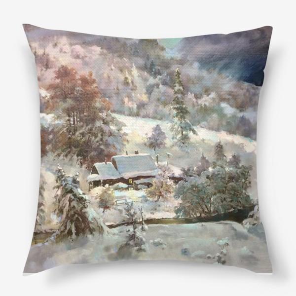 Подушка «В снежном плену»