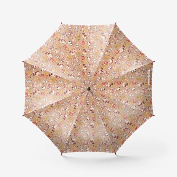 Зонт «Новый год и Рождество, дед Мороз, Санта»
