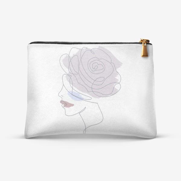 Косметичка «Девушка роза 2. Непрерывная линия»