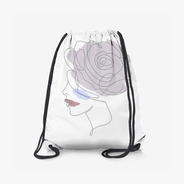 Рюкзак «Девушка роза 2. Непрерывная линия»
