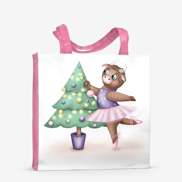 Сумка-шоппер «Корова-балерина»