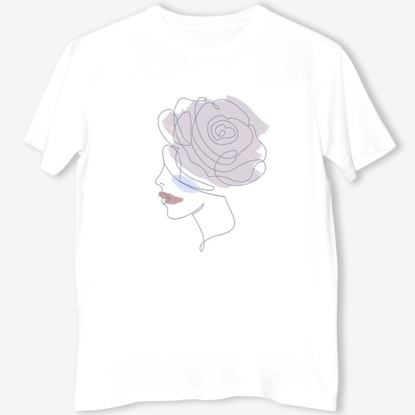 Футболка «Девушка роза 2. Непрерывная линия»